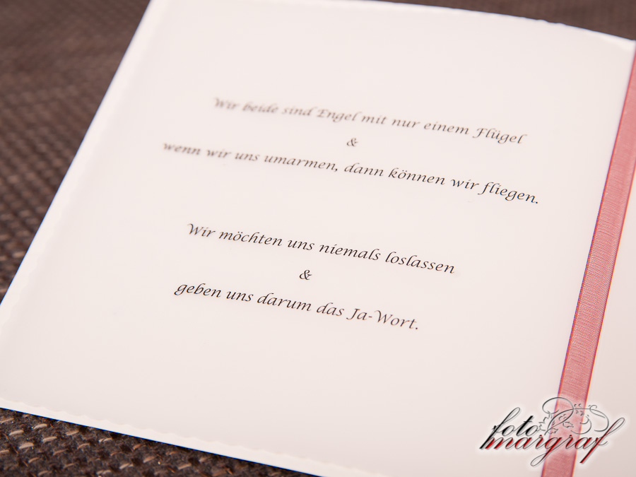 Einladungskarte Alexandra und Markus